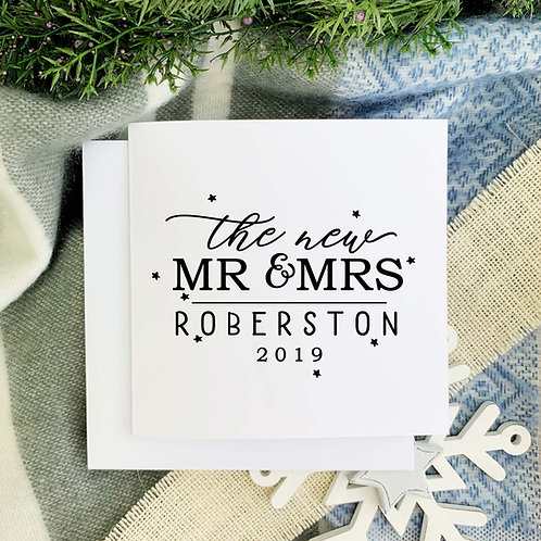 First Christmas card for the new Mr and Mrs