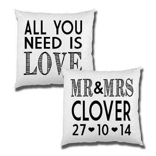 All You Need Is Love Cushion Cover Set