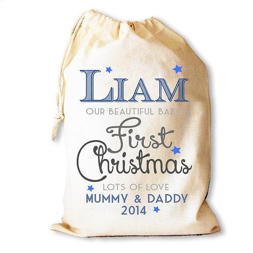 Baby Boys First Christmas gift bag
