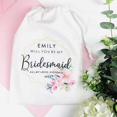 Will You Be My Bridesmaid White Medium Gift Bag