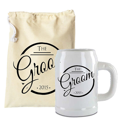 Wedding Groom Beer Stein Retro Design