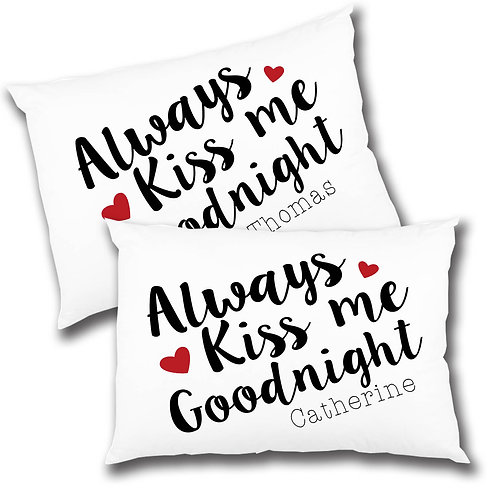 Pillow case couples gift set.
