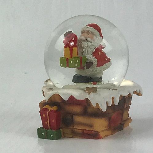 Santa with Presents snow globe