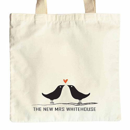 New Mrs Love Birds Tote gift bag