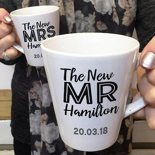 The New Mr & Mrs Wedding Latte Mugs