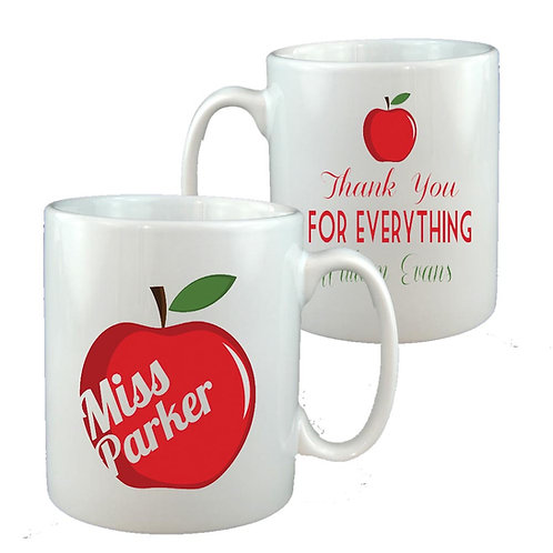 Red Apple Teacher Thank You Mug