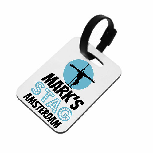 Pole Dancer Stag Party Luggage Tag