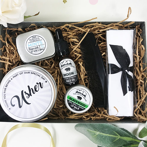 The Usher Metal Grooming Tin Gift Set