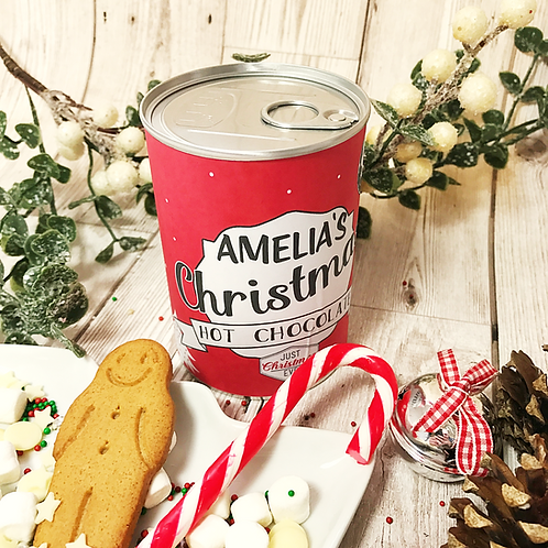 Luxury Hot Chocolate in a Personalised Tin