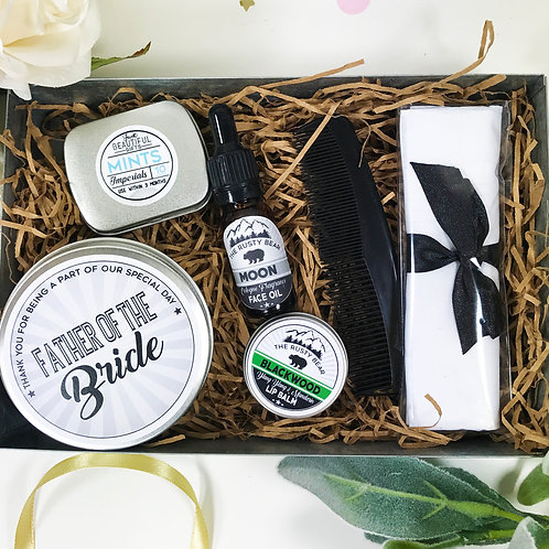 Father of the Bride Metal Grooming Tin Gift Set