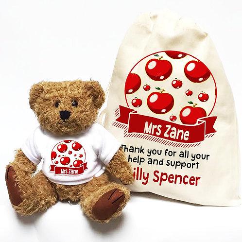 Personalised Teacher Bear Apples & Banner
