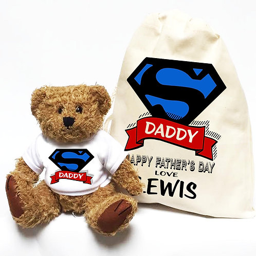 Personalised Super Hero Daddy Bear
