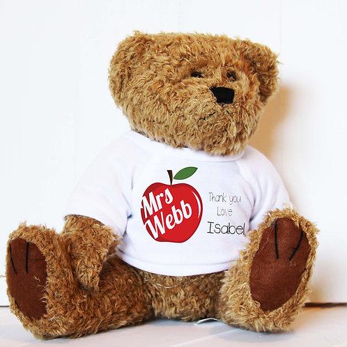 Apple Teacher Thank You Bear