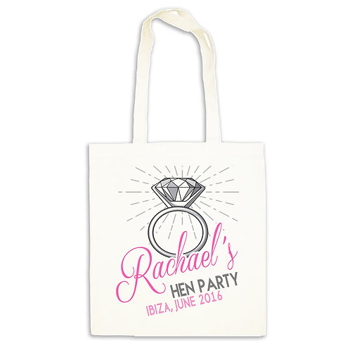 Hen Party tote gift bag.