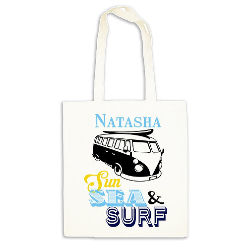 Cotton Tote Bag for holiday Campervan & Sun