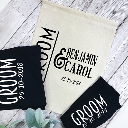 Groom Personalised Boxer Shorts and Socks Gift Set