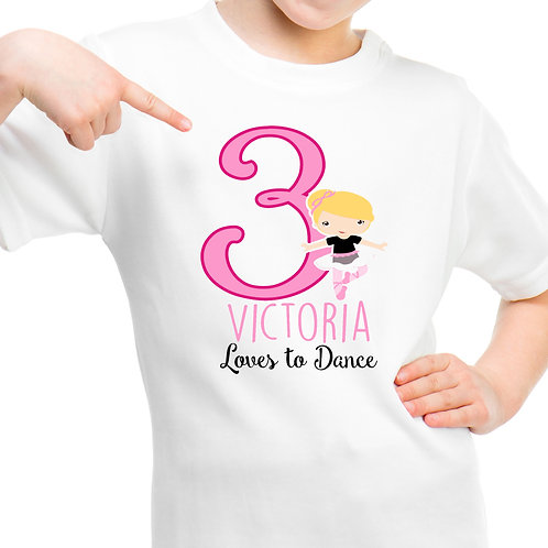 Ballerina girl t shirt
