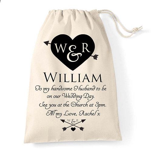 Heart and Arrow wedding gift bag