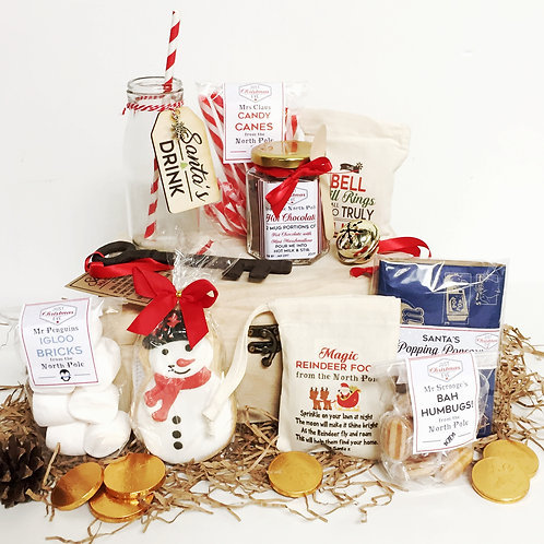 Christmas Eve pre filled wooden gift box.