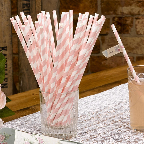 Blush Pink Paper Straws.