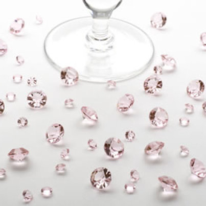 Pale pink crystal wedding table confetti 100g