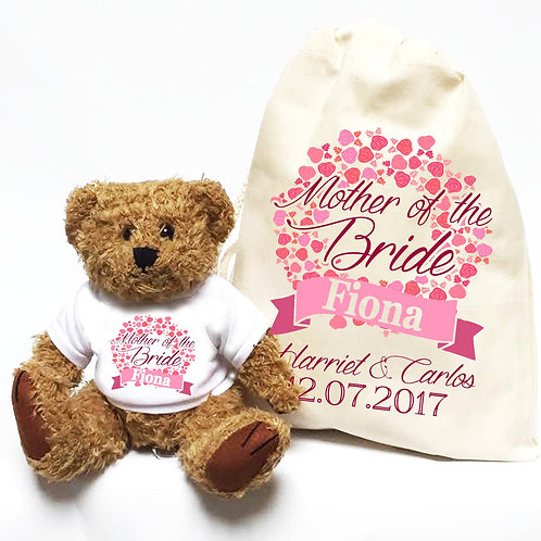 Personalised Mother of the Bride Bear