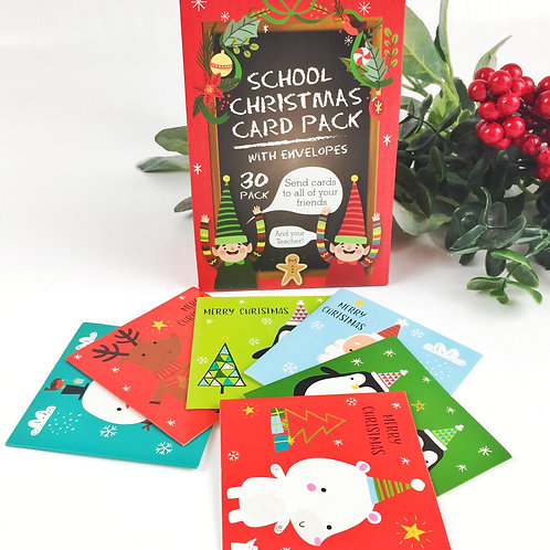 Christmas card pack for the whole class