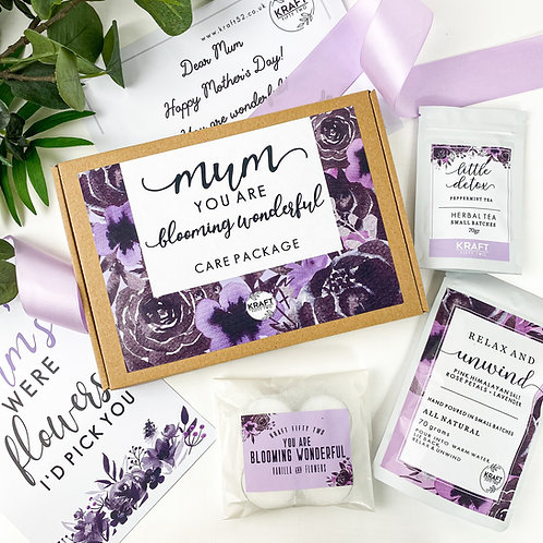 Mothers Day large letter gift box pamper set. Relaxing treats gift set for Mum
