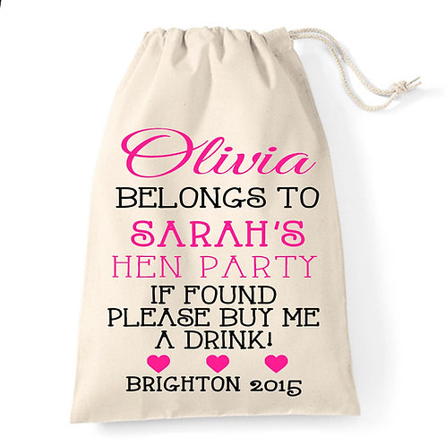 If Found Please Return Hen Party Gift Bag