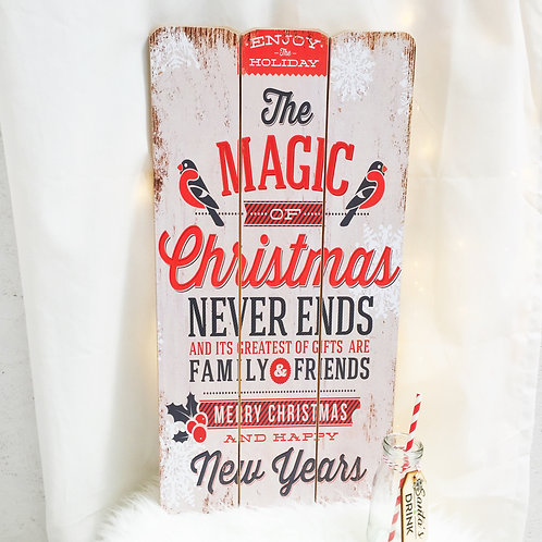 Large Wooden Christmas Sign