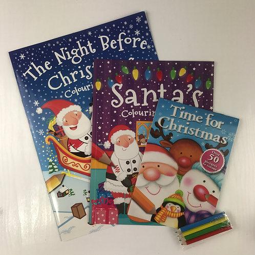 Santa's Bumper Pack Colouring Christmas Fun