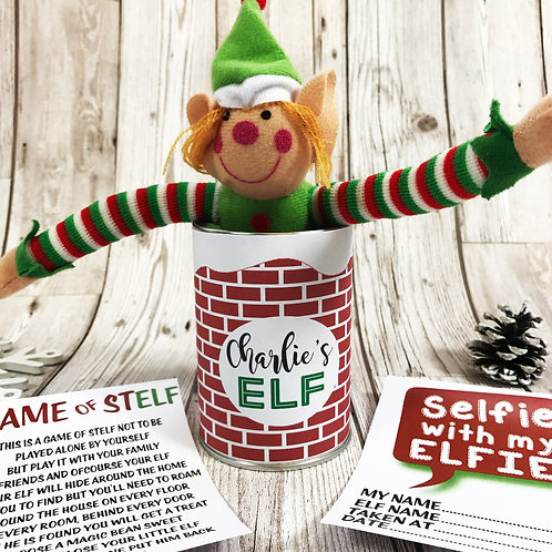 Elf in a Tin game with sweets