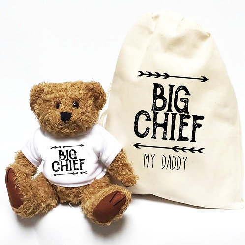 Big Chief Father's Day Personalised Bear