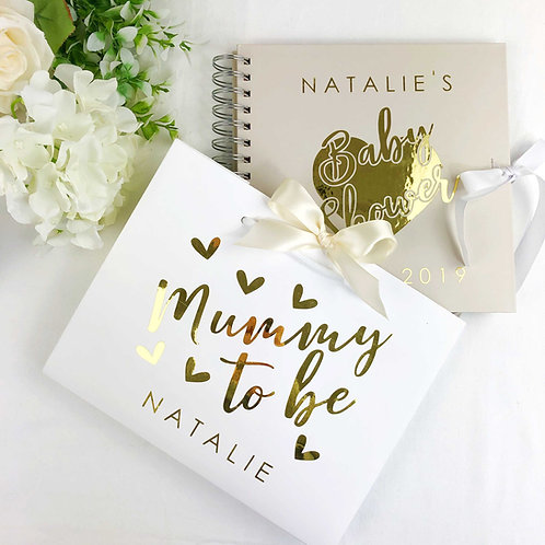 Mummy to Be Baby Shower Guest Book and Bag