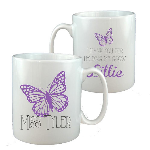 Butterfly Teacher Thank you Mug
