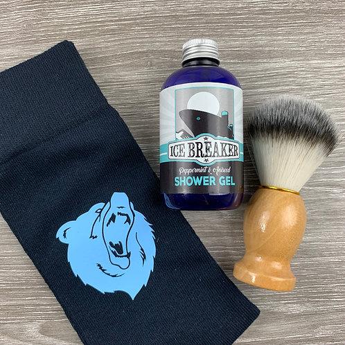 Icebreaker 3PC, Socks, Shower gel and Brush
