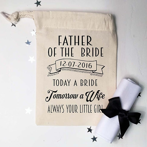 Father of the Bride gift bag and handkerchief