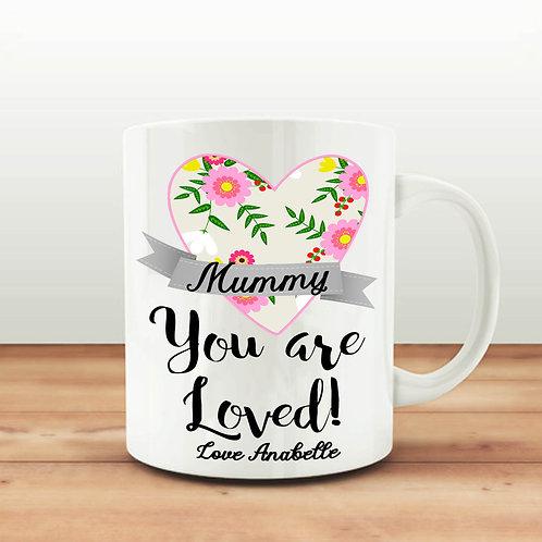 Mothers Day ceramic mug gift.