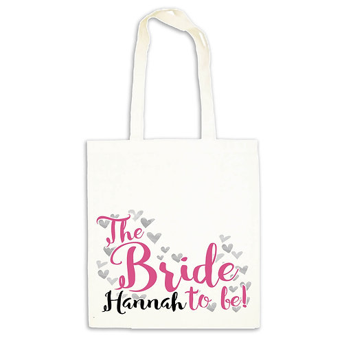 Bride to be hen party bag.
