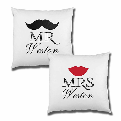 Lips and Moustache Cushion Cover Set