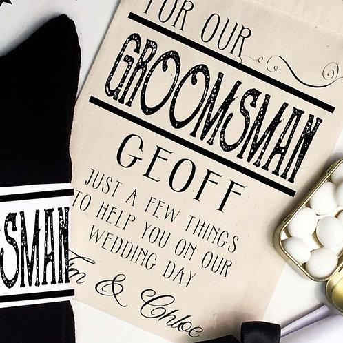 Personalised Groomsman pre filled gift set