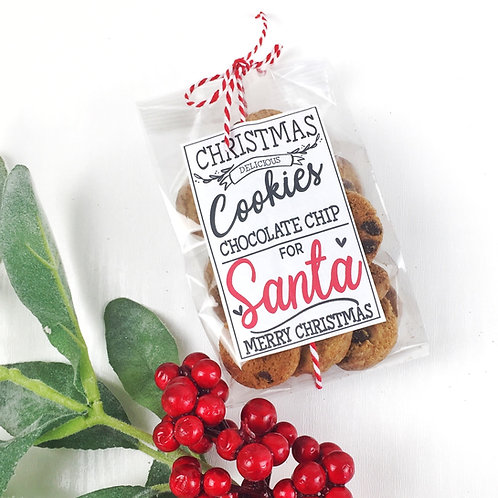 Chocolate chip cookies for santa