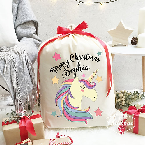 Unicorn Christmas Sack.