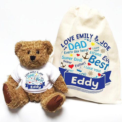Best Daddy Personalised Father's Day Teddy Bear
