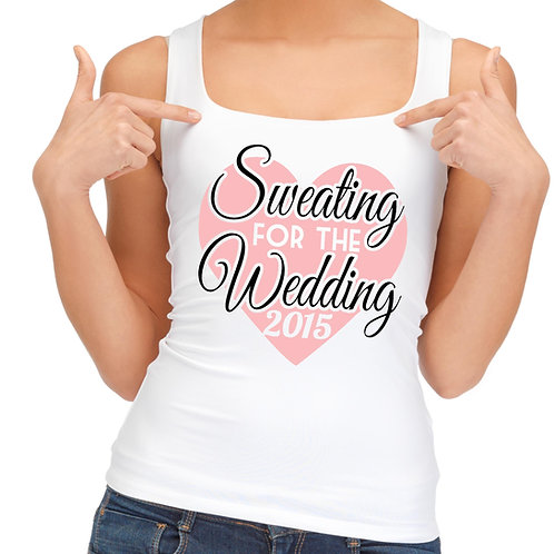 Sweating for the Wedding vest top