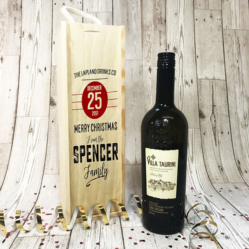Wooden Wine Box Lapland Drinks Co