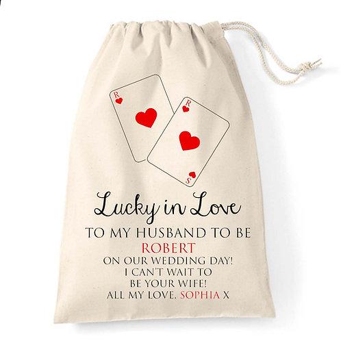 Wedding gift Casino style Groom bag
