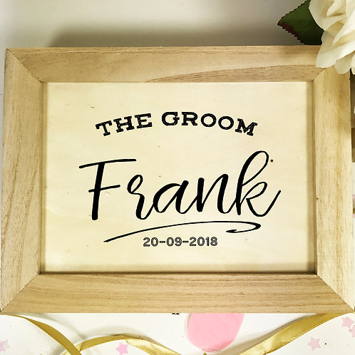 Personalised Wooden Gift Box for the Groom