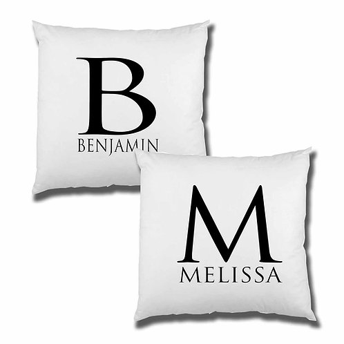 Monogram Wedding Cushion Cover Set