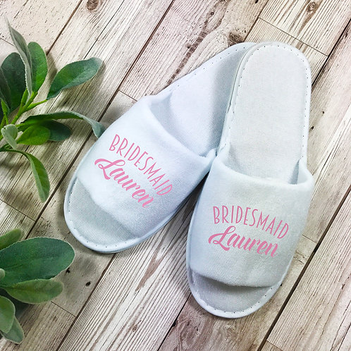 Bridesmaid Spa Slippers.Hen weekend gift.